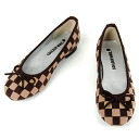 In the accent color of the No.344202br/ fashion! Step gorgeous mesh check ballet shoes fs3gm10P22Nov13