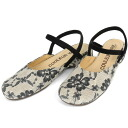 CV99 FLOWERLACE BLACK/ double trap sandals! fs3gm10P14Nov13 attractive as for the abundant size development (stock sale)