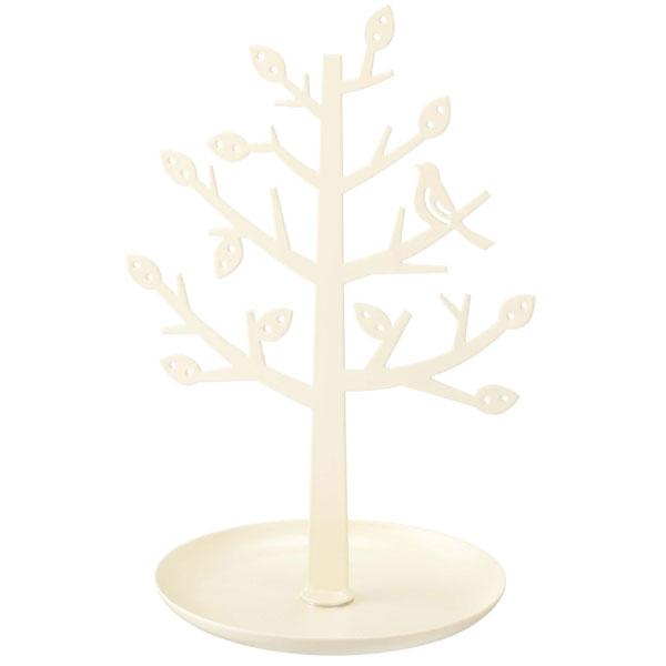 ツリーをモチーフにしたアクセサリースタンドで見せる収納。お気に入りのピアスやネックレス、ブレスレットやリングなどを小枝に掛けるだけで、花が咲いたようにツリー