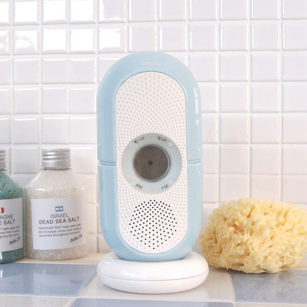 防滴お風呂クロックラジオ[R9 ...