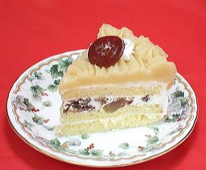誕生日ケーキ、モンブランのバースデーケーキのデコレーションケーキ