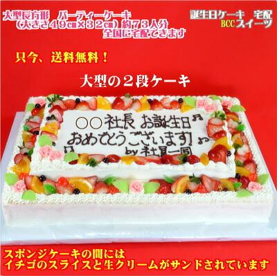 特大誕生日ケーキ 大きいバースデーケーキ ケーキ パーティーケーキ