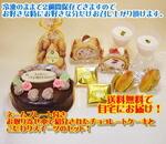 送料無料チョコレートケーキ誕生日バースデーケーキのセット