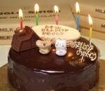 飾り付チョコレートケーキ誕生日バースデーケーキ