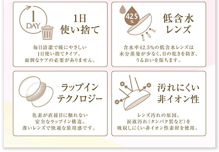 使い捨てで安心低含水サンドイッチ製法のカラコンはエバーカラー1dayモイストレーベルUV