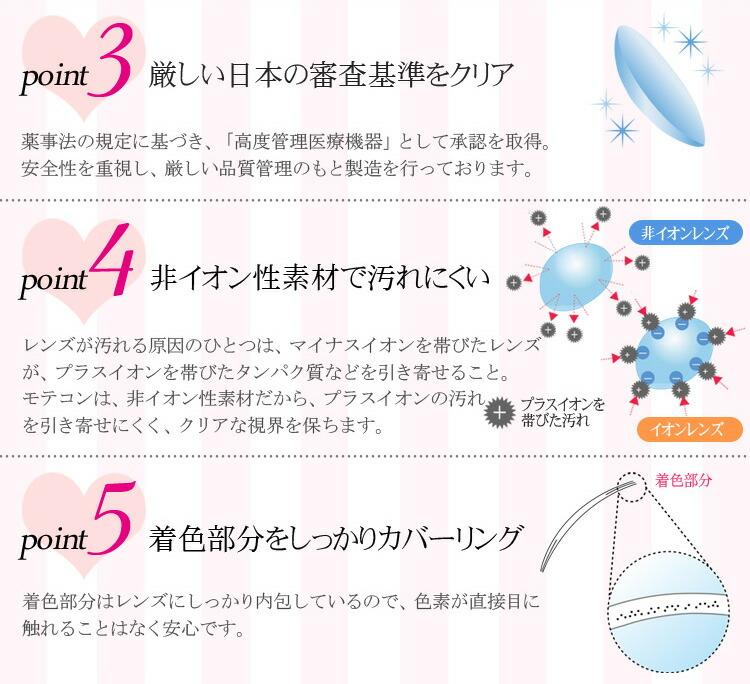 日本の審査基準をクリアしたマンスリーカラコンモテコン