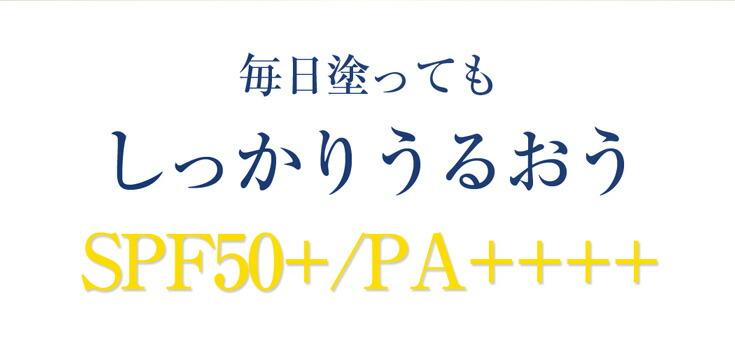 毎日塗っても潤う日焼け止めはSPF50+PA++++の高数値!