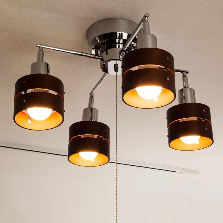 「レダカイ ブラウン」の電球色点灯イメージアップ