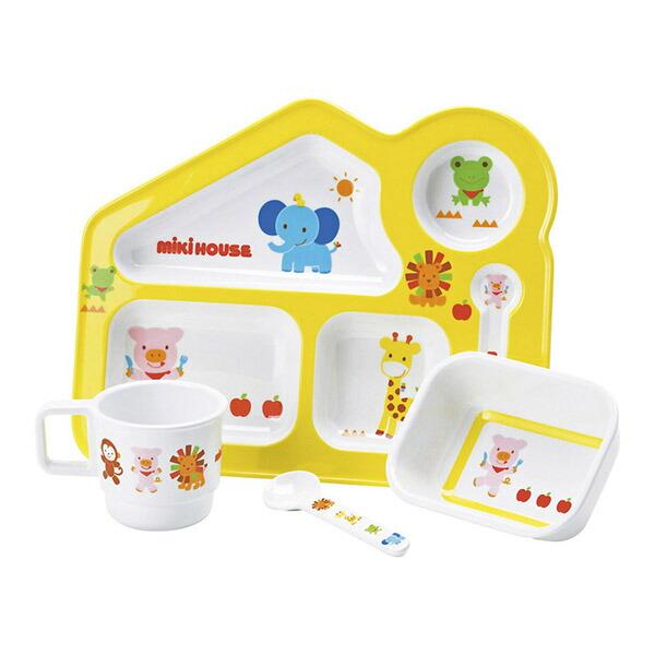 ミキハウス アニマルシリーズ テーブルウェアセット