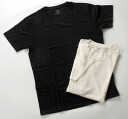 TAKEFU bamboo fabric crew neck short sleeve t-shirt (black)