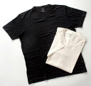 TAKEFU bamboo cloth V neck short sleeve t-shirt (black)