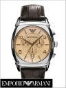 Watch AR0348 (brown clockface, cowhide belt) for chronograph men