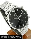 EMPORIO ARMANI (エンポリオ アルマーニ)男性用腕時計(クロノグラフ/ブラック文字盤)エンポリオ・アルマーニAR0389