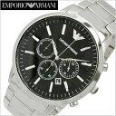 Emporio armani EMPORIO ARMANI watch chronograph men / silver x black clockface AR2460