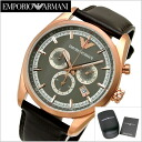 Emporio armani EMPORIO ARMANI watch chronograph men / gray x pink gold clockface AR6005