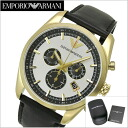 Emporio armani EMPORIO ARMANI watch chronograph men / silver x gold clockface AR6006