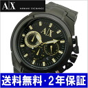 ARMANI EXCHANGE chronograph men watch / black IP AX1192