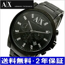 ARMANI EXCHANGE chronograph men watch black IP/ crystal index AX2093