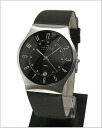 ( Skagen ) in SKAGEN men's Watch (leather belt black letter Edition) 50% off 233XXLSLB