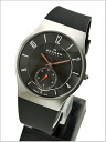 SKAGEN (scar gene) men's watch Small second titanium (titanium) / silicon rubber belt (black clockface) SKAGEN (scar gene) 805XLTRB