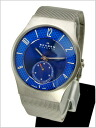 SKAGEN (scar gene) men's watch Small second titanium (titanium) / mesh belt (blue clockface) SKAGEN (scar gene) 805XLTTN