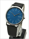 ( Skagen ) in SKAGEN men's Watch (leather belt blue characters Edition) 41% 858XLSLN