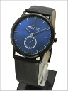 SKAGEN (scar gene) men's watch Small second (leather belt blue clockface) 44%OFF SKAGEN (scar gene) 958XLBLN