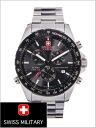 20% Off Swiss military ML-119M ( swismiglitary ) SWISS MILITARY Chronograph Watch, Navigator black dials (for men)