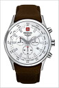 ( swismiglitary ) SWISS MILITARY Swiss military Chronograph Watch ナバロス White Dial (for men) genuine, 20% off ML-280