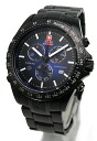 Swiss military watches SWISS MILITARY ブラックナビゲーター blue dial (men) (regular products) ML-202B