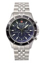SWISS MILITARY (the Swiss military) chronograph watch, FlLAG SHIP (flagship) navy clockface (male business) ML -339