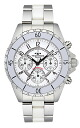 (regular article) T3032TW for TECHNOS (テクノス) chronograph watch stainless steel / ceramic belt, white clockface, men