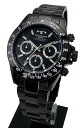 TECHNOS chronograph black IP plating men TGM615BB