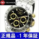 TECHNOS watch chronograph men black / gold TGM615-LB