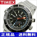 TIMEX (Timex) watch, インテリジェントクォーツデプス black clockface stainless steel belt (regular article) T2N809
