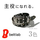 Belt Shoppe ♪ 820 type choose from popular ♪ studded genuine leather belt belt Shoppe! And the presence of an extravagant design buckle! Mens, Womens, rhinestone and studded ♪ vintage 風本 leather belt MEN's Belt LADY's Belt