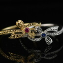 Solid ribbon pinkie ring sapphire or size for ruby: 0-5.5 order