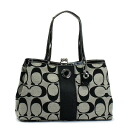 black and gray coach bag 7o03  Black Signature Coach Purse