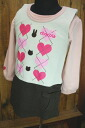 The best tunic one piece of the heart belonging to SALE sale mom & junior miss fleece pile + gauze Ron T
