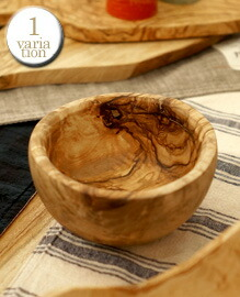 OLIVE BOWL ROUND Rial olive wood