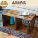 OLD TEAK BOX SHELF (M)