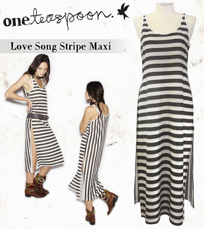 �� One Teaspoon ���ƥ������ס��� ��Love Song Stripe Maxi ���ȥ饤�� ��� ���ԡ���