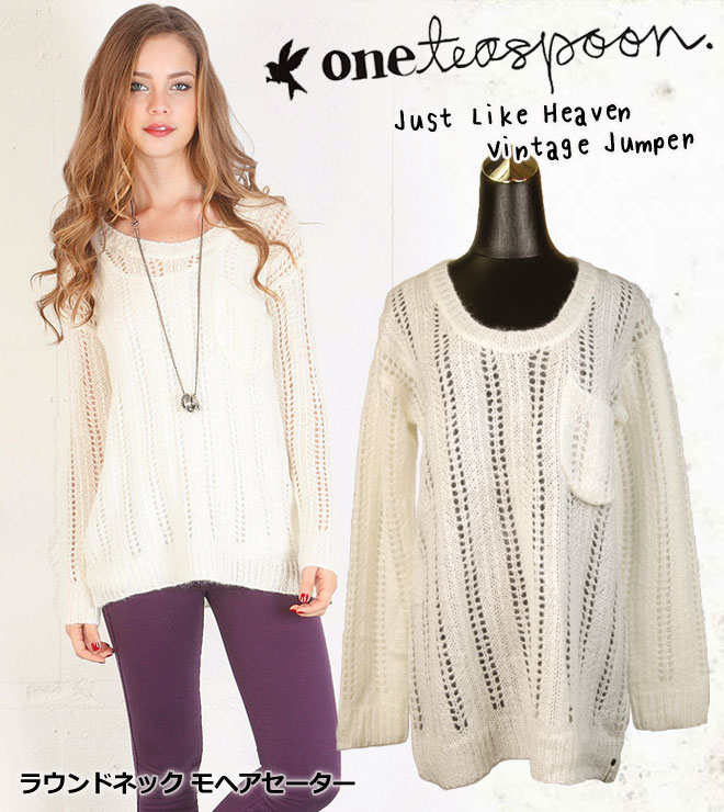 One Teaspoon ���ƥ������ס��� Just Like Heaven Vintage Jumper ��إ� ���ä����Ԥ� ��ä���˥åȥ����� �ѥ��
