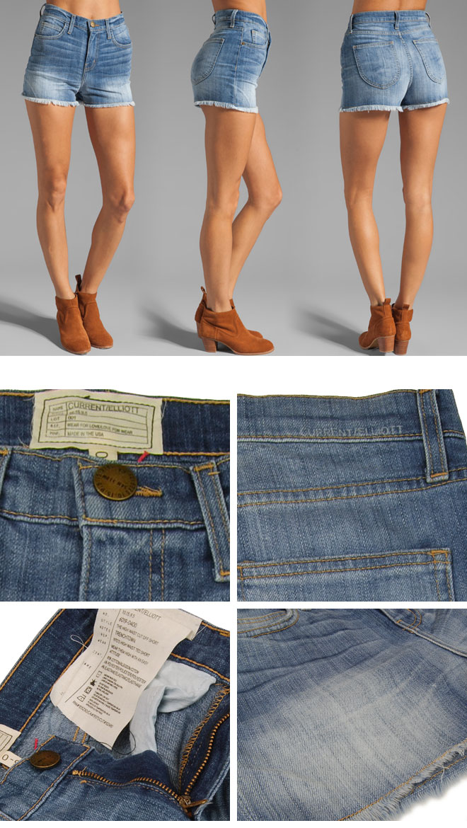 Current Elliott �����ȥ��ꥪ�å� �ϥ��������� ���åȥ��� �ǥ˥ॷ�硼�ȥѥ�� High Waist Cut Off Short