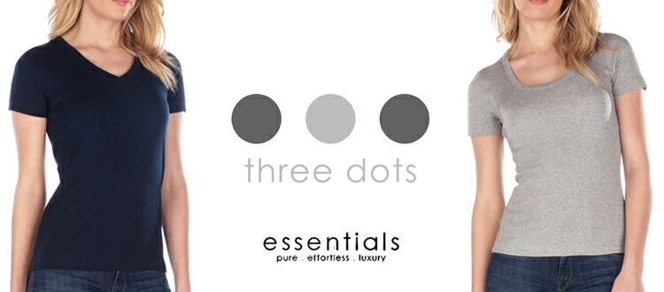 three dots スリードッツ Tシャツ カットソー