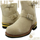 GOD &BLESS suede material short Engineer Boots sand GB-9808 05P10Jan15