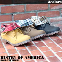 HISTRY OF AMERICA roll top boots 2WAY BOOTS ■ color: yellow, black and Brown B series fashion /HIPHOP / Street series shoes (shoes) / plain / plain ☆