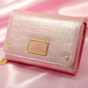 ◆ Hello Kitty crocotouch two fold wallet ( overlaid with Bill slot in RF ) pink HK-18-3-PK