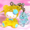 Hello kitty raise of wages Kitty & poodle ornamental button for suspending a pouch strap yellow