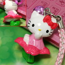 "-Hello Kitty x ""dogwood"" collaboration ハナミズキキティ netsuke strap"